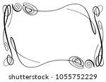 flourish vector frame.... | Shutterstock .eps vector #1055752229