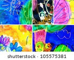 abstract graffiti collage ... | Shutterstock . vector #105575381