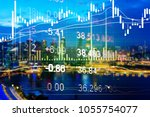various type of financial and... | Shutterstock . vector #1055754077