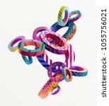 multicolored decorative circles.... | Shutterstock .eps vector #1055756021