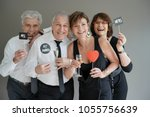 senior couples celebrating...   Shutterstock . vector #1055756639