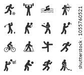 sport. monochrome icons set....   Shutterstock .eps vector #1055760521