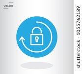 lock with arrow  update... | Shutterstock .eps vector #1055762189