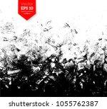 vector black and white hand... | Shutterstock .eps vector #1055762387