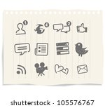 social media icons drawing... | Shutterstock .eps vector #105576767