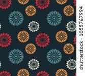 universal flowers seamless... | Shutterstock .eps vector #1055767994