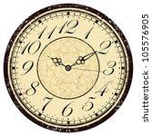 Grunge Old Vintage Clock Face