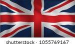 satin uk waving flag  eps10... | Shutterstock .eps vector #1055769167