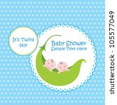 baby arrival announcement card  ... | Shutterstock .eps vector #105577049