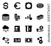 solid vector icon set   dollar... | Shutterstock .eps vector #1055776547