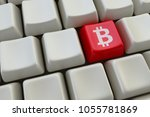 computer keyboard with bitcoin...   Shutterstock . vector #1055781869