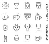 thin line icon set   coffee... | Shutterstock .eps vector #1055788415
