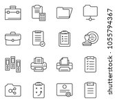 thin line icon set   stamp... | Shutterstock .eps vector #1055794367