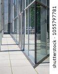 glass facade of modern building   Shutterstock . vector #1055797781