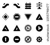 solid vector icon set  ... | Shutterstock .eps vector #1055798477