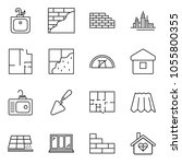 thin line icon set   downtown... | Shutterstock .eps vector #1055800355