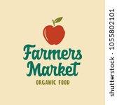 farmers market emblem label... | Shutterstock .eps vector #1055802101