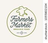 farmers market emblem label...   Shutterstock .eps vector #1055802104