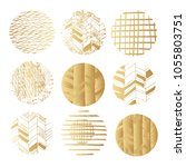 big set of vector golden ... | Shutterstock .eps vector #1055803751