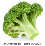 Raw Broccoli Isolated On White...