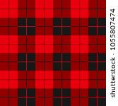 buffalo plaid seamless pattern. ... | Shutterstock .eps vector #1055807474