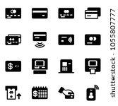 solid vector icon set   credit... | Shutterstock .eps vector #1055807777