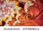 abstract fractal patterns and... | Shutterstock . vector #1055808611