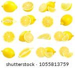 collection of fresh yellow... | Shutterstock . vector #1055813759