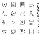 thin line icon set   check... | Shutterstock .eps vector #1055814851