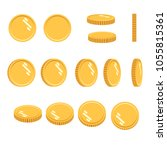 coins set of vector sprites for ... | Shutterstock .eps vector #1055815361