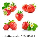 Strawberry Berry With Green...