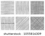 set of textures of horizontal ... | Shutterstock .eps vector #1055816309