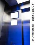 blank tv screen  lcd  in the... | Shutterstock . vector #1055818775