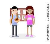cartoon flat illustration   a...   Shutterstock .eps vector #1055829311