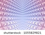 abstract 3d minimalistic... | Shutterstock . vector #1055829821