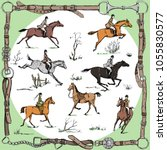 Equestrian Belt Frame With...