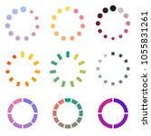 set of colored modern loading... | Shutterstock .eps vector #1055831261