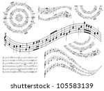 musical abstract design... | Shutterstock .eps vector #105583139