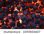 top view of hot flaming... | Shutterstock . vector #1055833607