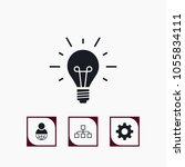 vector set of business icons.... | Shutterstock .eps vector #1055834111