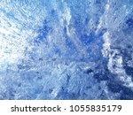 textured ice blue frozen rink... | Shutterstock . vector #1055835179