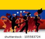 vector   venezuela sport fan... | Shutterstock .eps vector #105583724