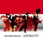 vector   monaco sport fan crowd ... | Shutterstock .eps vector #105583757