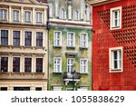 old buildings facades in the... | Shutterstock . vector #1055838629