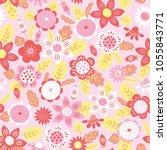 vector seamless colourful... | Shutterstock .eps vector #1055843771