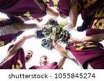 american football team players... | Shutterstock . vector #1055845274