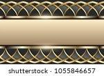 3d golden banner with islamic... | Shutterstock . vector #1055846657