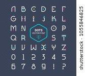 rounded font. vector alphabet...   Shutterstock .eps vector #1055846825