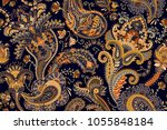 colorful paisley wallpaper.... | Shutterstock .eps vector #1055848184