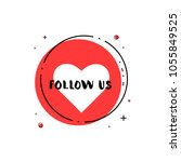 follow us round banner. vector... | Shutterstock .eps vector #1055849525